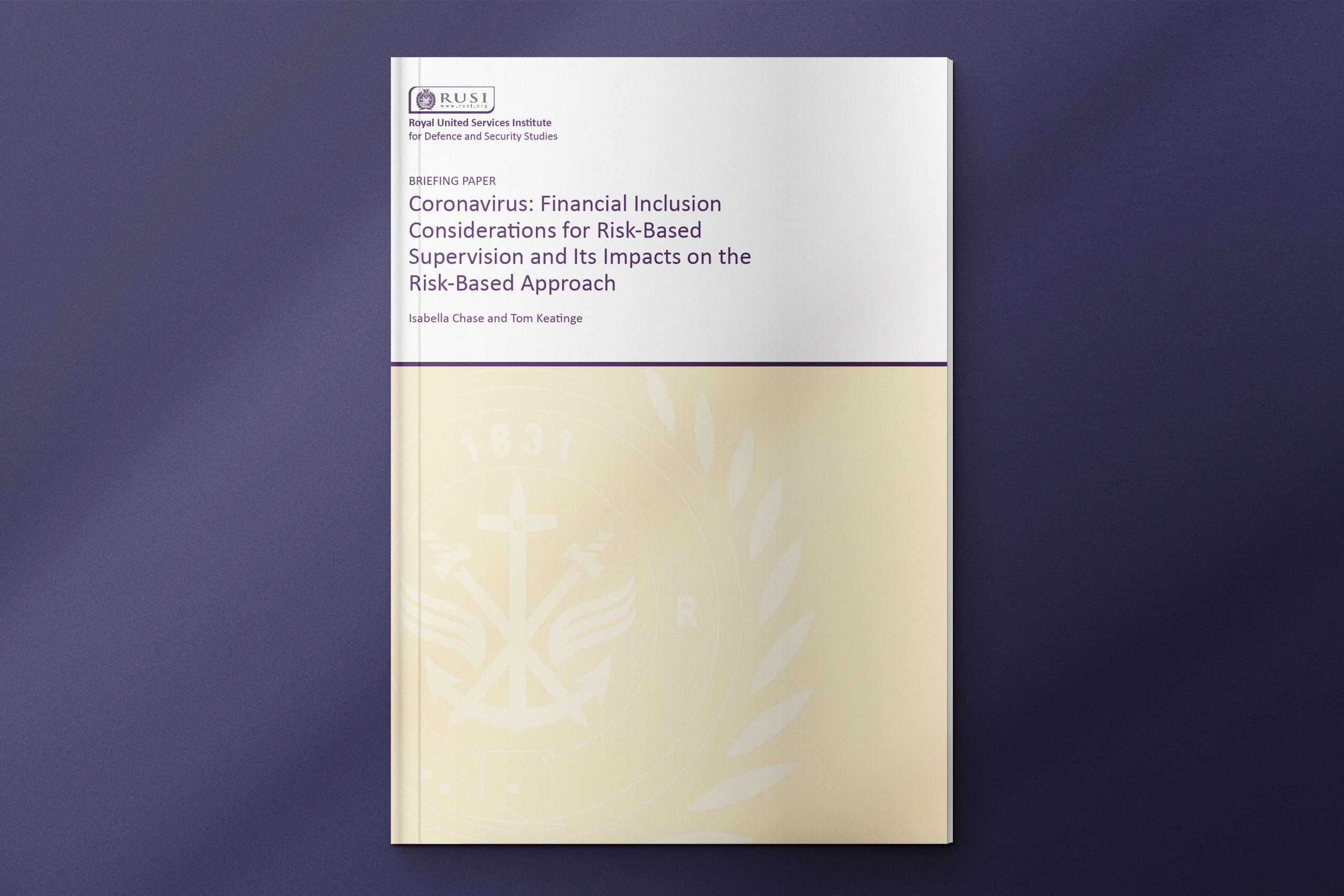 Coronavirus: Financial Inclusion Considerations for Risk-Based Supervision and Its Impacts on the Risk-Based Approach